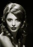 Gorgeous woman portrait. black and white Royalty Free Stock Photo