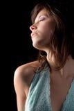 Gorgeous Woman With Purple Eye Shadow Royalty Free Stock Photo