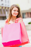 Gorgeous Woman Shopping Stock Image