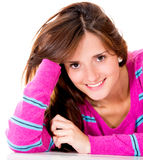 Gorgeous woman smiling Royalty Free Stock Photos