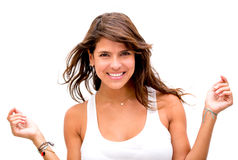 Gorgeous woman smiling Stock Photography