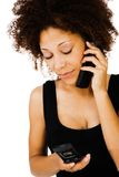 Gorgeous woman talking on mobile Stock Image