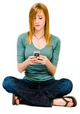 Gorgeous woman text messaging Stock Images