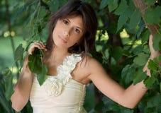 Gorgeous Woman and Tree Stock Photos