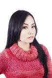 Gorgeous woman wearing sweater Stock Image