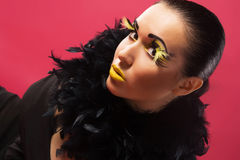 Gorgeous Woman With Bright Makeup Stock Photography