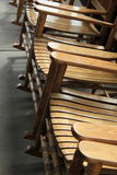 Gorgeous wood rocking chairs Stock Images