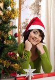 Gorgeous Xmas Girl Royalty Free Stock Photography