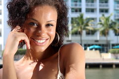 Gorgeous Young Afro-American Lady Stock Photography