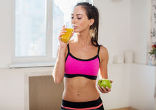 Gorgeous young athletic sportive woman in sport Stock Photo