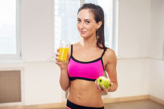 Gorgeous young athletic sportive woman in sport Royalty Free Stock Photos