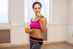 Gorgeous young athletic sportive woman in sport Stock Photography