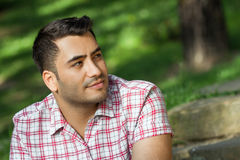 Gorgeous young attracive man in nature Stock Photo