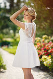 Gorgeous young bride in the Park of colors Stock Images