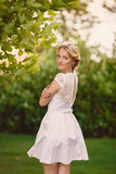 Gorgeous young bride in the Park of colors Royalty Free Stock Image