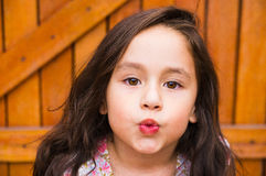 Gorgeous young brunette girl closeup headshot Royalty Free Stock Photography