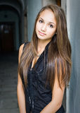 Gorgeous young brunette model. Royalty Free Stock Photos