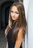 Gorgeous young brunette model. Stock Image