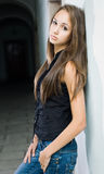 Gorgeous young brunette model. Royalty Free Stock Photo