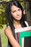 Gorgeous young brunette student. Stock Photo