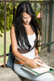 Gorgeous young brunette student. Stock Image