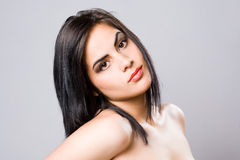 Gorgeous young brunette woman. Stock Photography