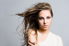 Gorgeous young brunette woman. Royalty Free Stock Image