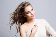 Gorgeous young brunette woman. Royalty Free Stock Photos