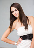 Gorgeous young brunette woman. Stock Images