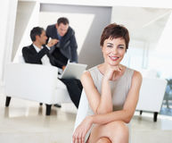 A gorgeous young business woman smiling Royalty Free Stock Images