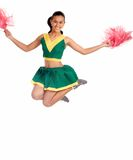 Gorgeous young cheerleader Royalty Free Stock Photos