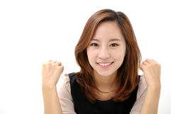 Gorgeous young female smiling confidently Stock Images