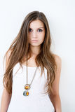 Gorgeous young female in studio Royalty Free Stock Images