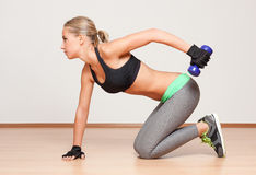 Gorgeous young fitness woman. Royalty Free Stock Images