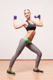 Gorgeous young fitness woman. Royalty Free Stock Image