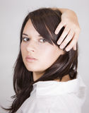 Gorgeous young girl. Image of a young beautiful girl posing in the studio Royalty Free Stock Photography