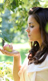 Gorgeous young girl with apples. Gorgeous young girl with sappy apples Stock Photo