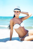 Gorgeous young girl on a summer beach Stock Photography