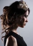 Gorgeous young lady. Profile of gorgeous young lady Royalty Free Stock Photo