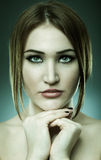 Gorgeous young lady, toned image Royalty Free Stock Photos