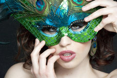Gorgeous young masked female Royalty Free Stock Images