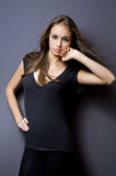 Gorgeous young model girl. Royalty Free Stock Image