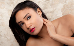 Gorgeous Young Multiracial Woman stock photo