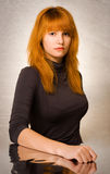 Gorgeous young redhead portrait. Royalty Free Stock Photos