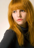 Gorgeous young redhead portrait. Stock Images