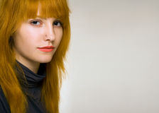 Gorgeous young redhead portrait. Stock Image