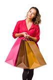Gorgeous young shopper. Stock Images