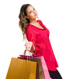 Gorgeous young shopper. Royalty Free Stock Photos
