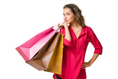 Gorgeous young shopper. Stock Photos