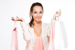 Gorgeous young shopper. Royalty Free Stock Images